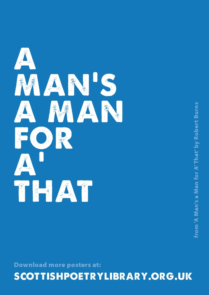 SPL Poster A Man's a Man Robert Burns_0