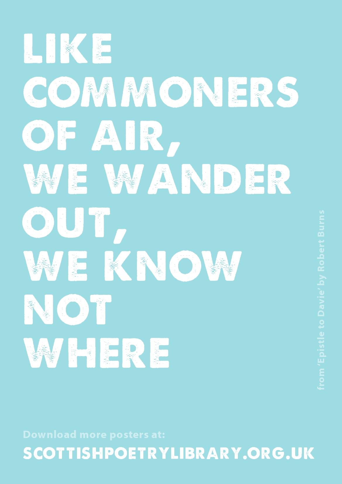 SPL Poster Commoners of Air Robert Burns | burnsscotland