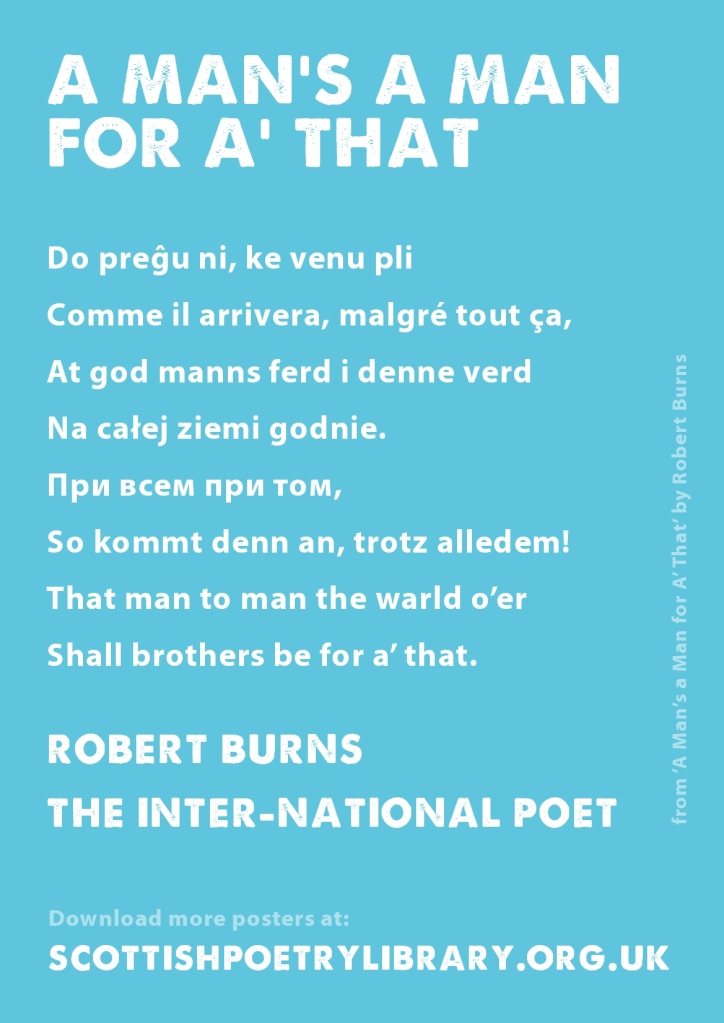 SPL Poster International Robert Burns